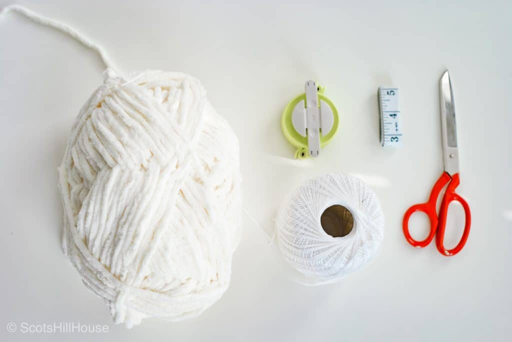 Supplies for Pom-Pom Garland DIY