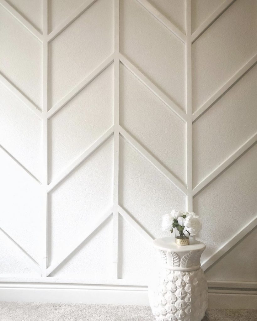 white wood accent wall