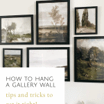 Tips and Tricks For How To Hang A Gallery Wall