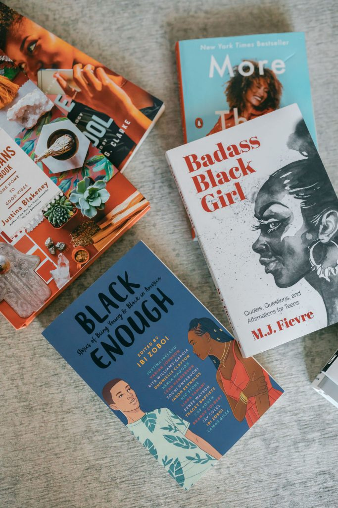 a collection of books by black authors for black history month