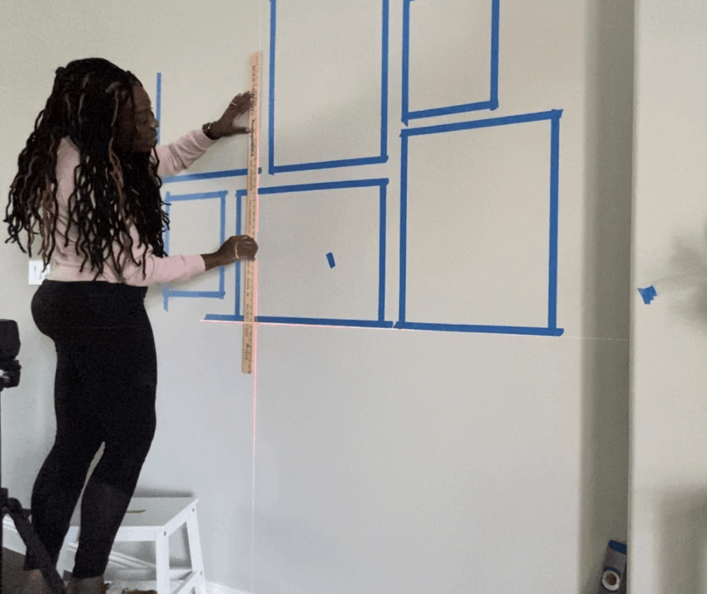 how to measure a gallery wall