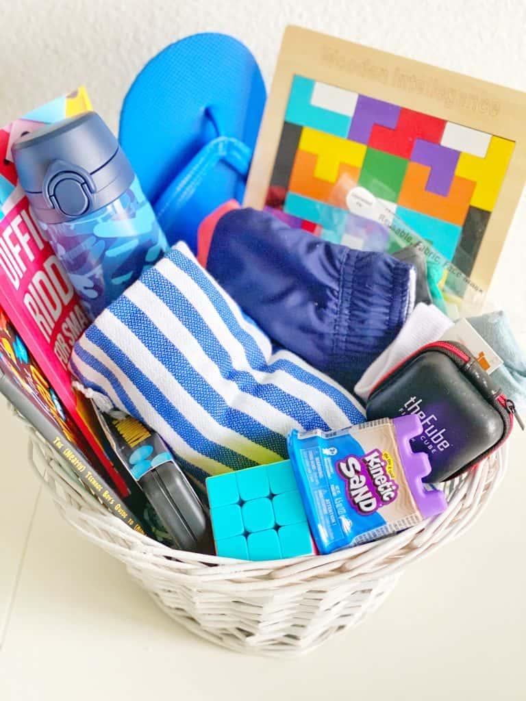 Easter gift basket for boys