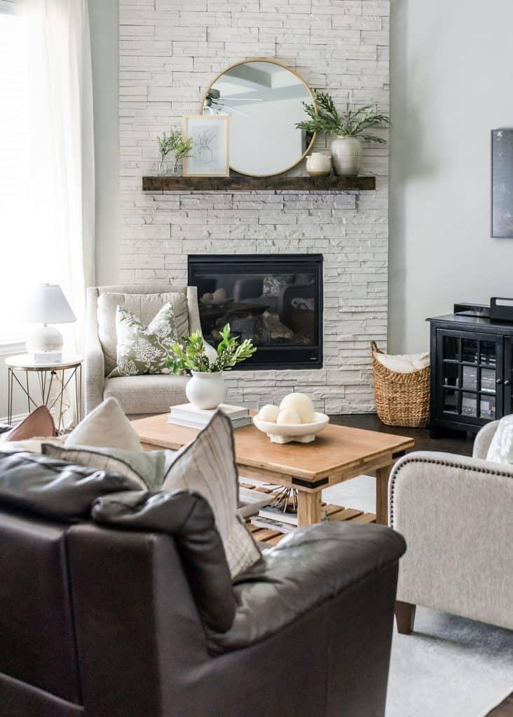 Spring home decor living room