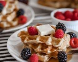 the perfect homemade banana waffle recipe