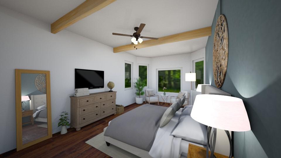 one room challenge master bedroom rendering