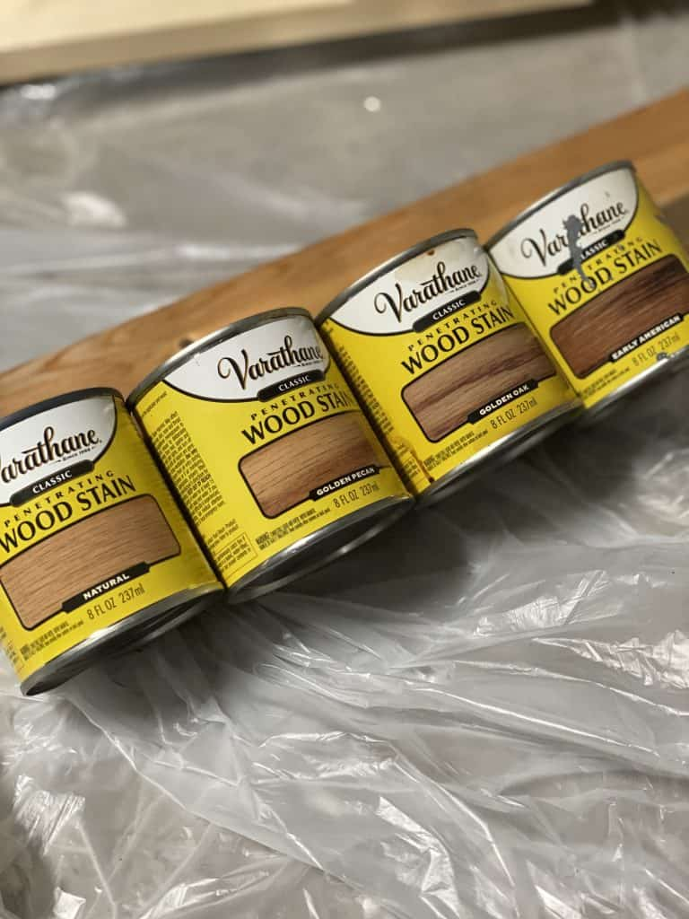 Varanthe wood stain for DIY project