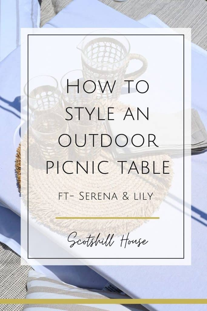 how to style an outdoor seating area