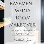 Basement Media Room FrogTape Challenge