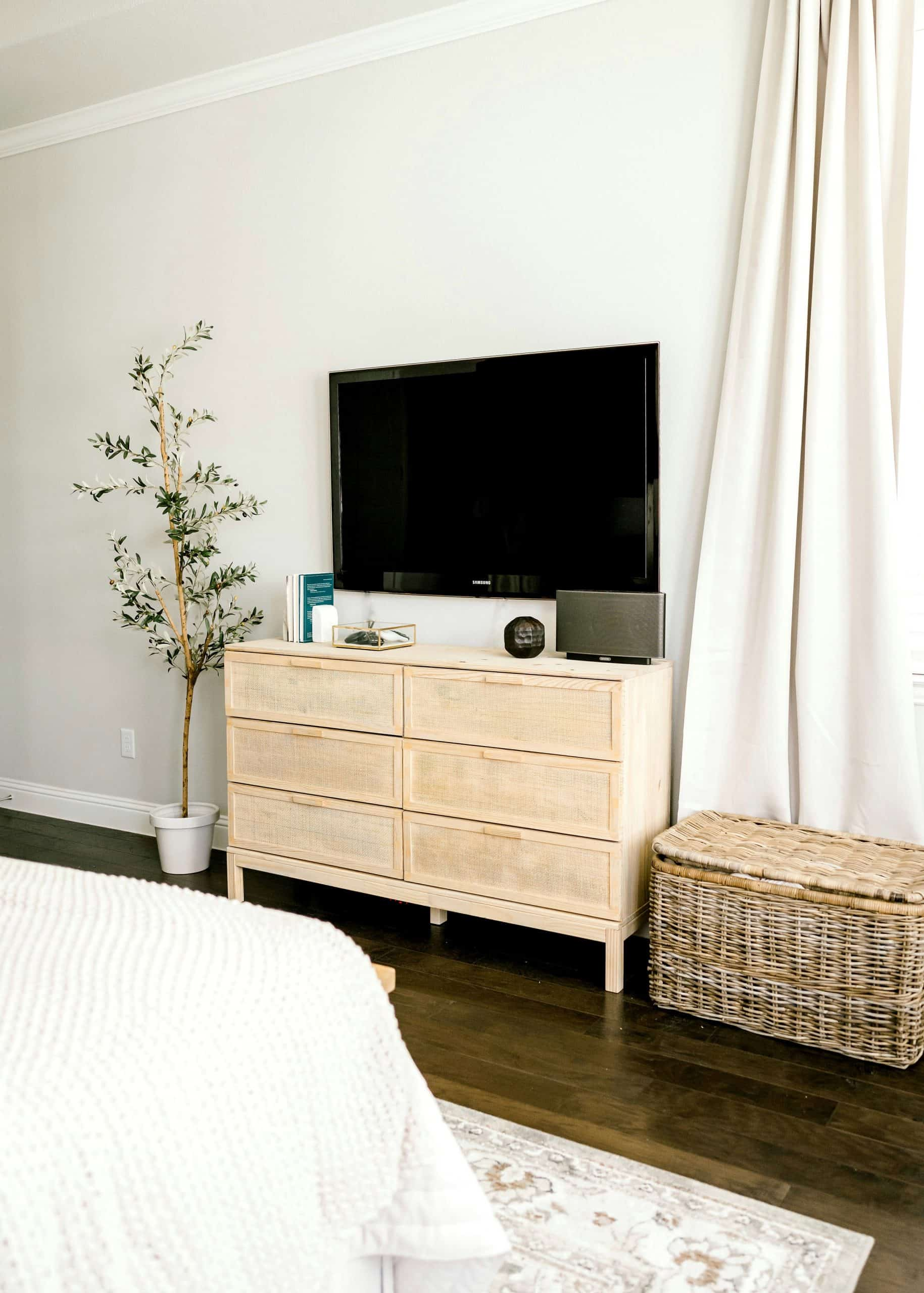 IKEA hack DIY cane dresser Reveal