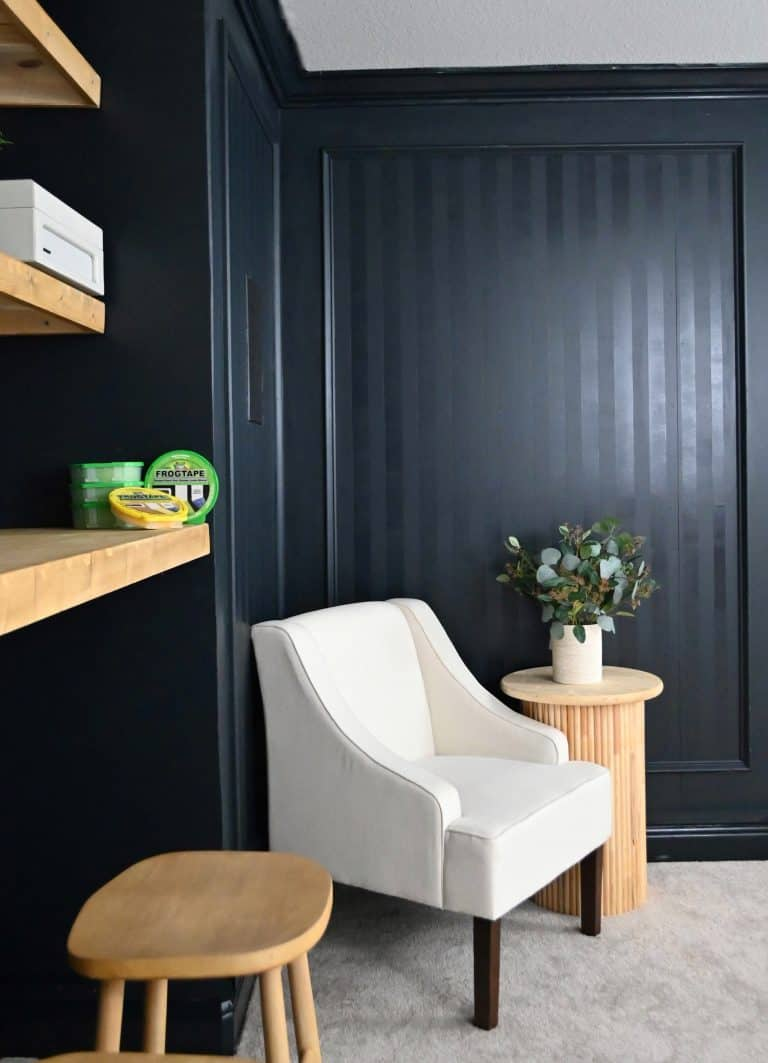 Sherwin Williams Inkwell Paint Colour In Media Room