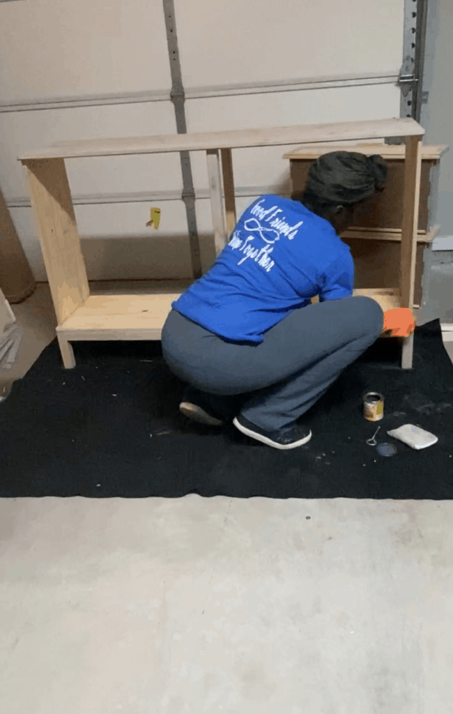 assembling the Ikea tarva dresser