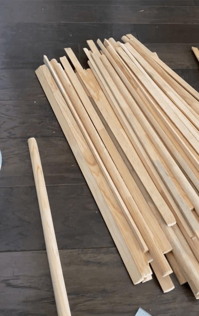 slats for making DIY fluted table