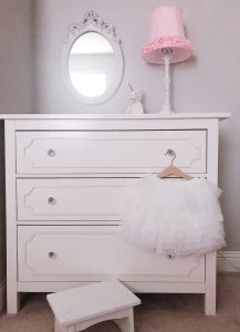 Renovated dresser with stepping stool
