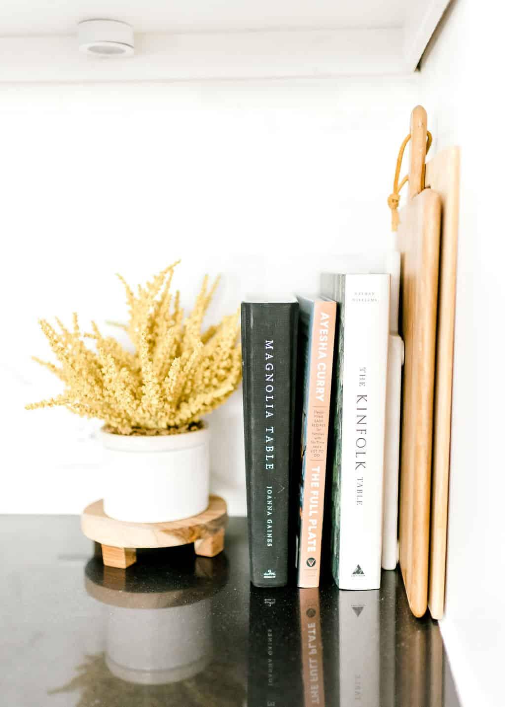 Kitchen decor books recipe bookes