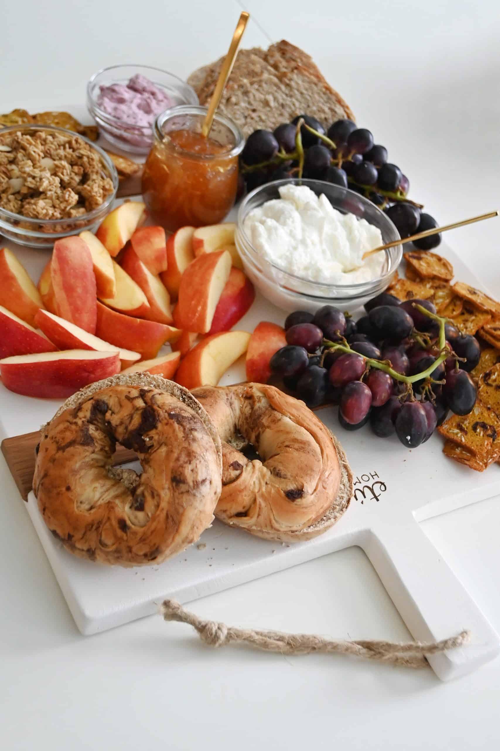 Breakfast board on table