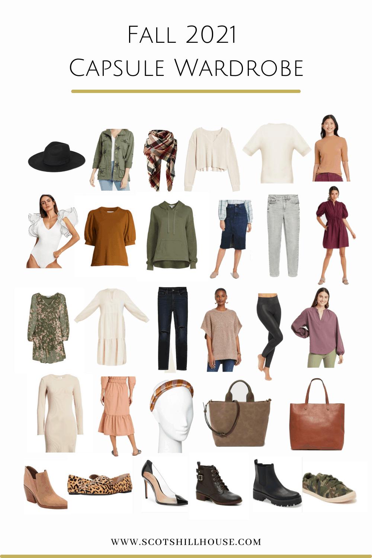 Fall Capsule Clothing List