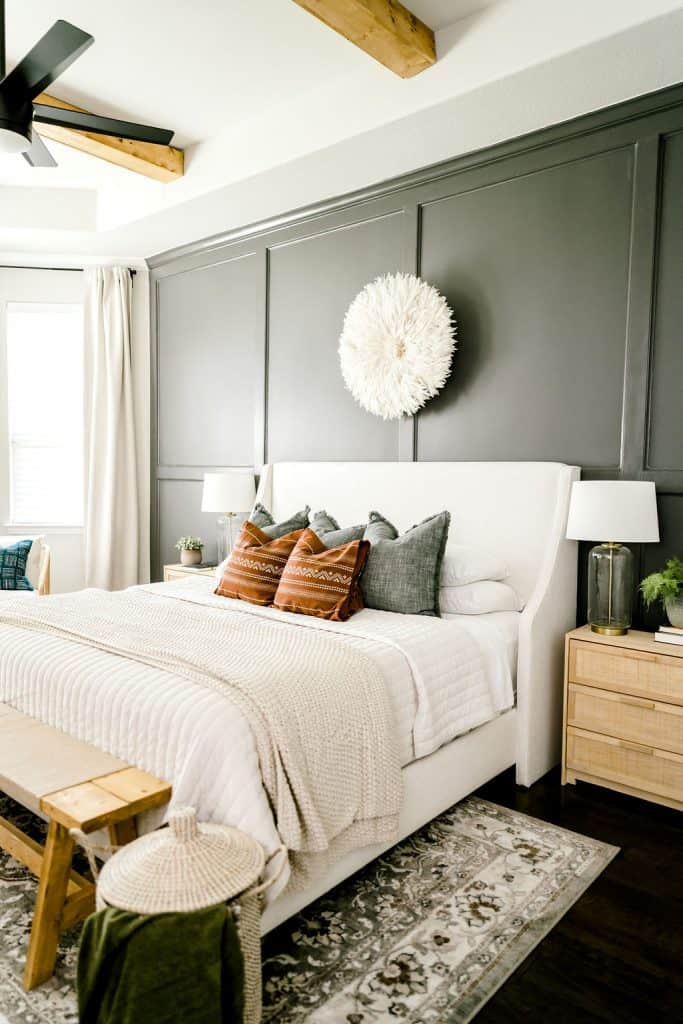 King size bed with night stand