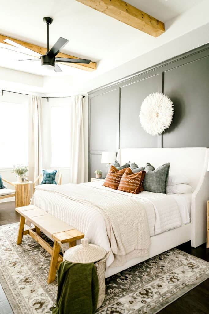 Master Bedroom with fall decor